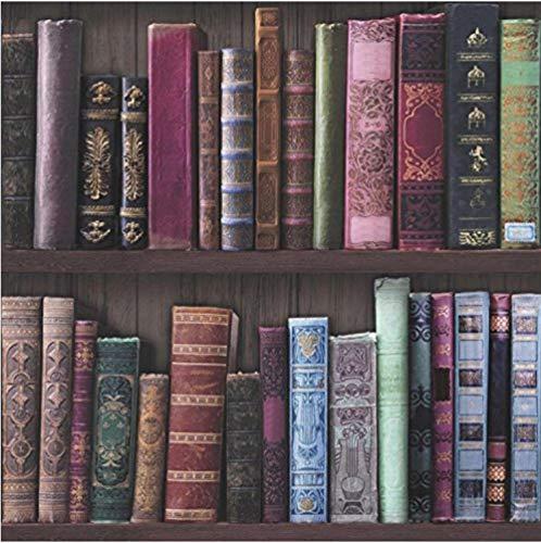 Xcmb Fototapete Design Moderne Seitenwand Tapete Strukturierte Tapete Preiswertes Regal Bücherregal Bibliothek Tv Hintergrund Schlafzimmer Büro Lounge Dekoration-350Cmx245Cm - Bibliothek Regale