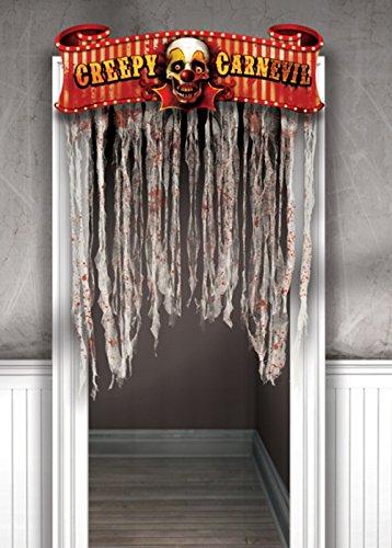 Halloween gruselig Fasching Tür Vorhang Dekoration