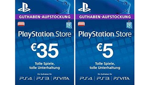 PlayStation Store Guthaben-Aufstockung 35 EUR + 5 EUR Gratis [PSN Code - österreichisches Konto]