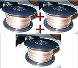 3 Rollen Schweissdraht 0,8 mm 3,0 kg für MIG MAG Schweissgeräte Schweißdraht