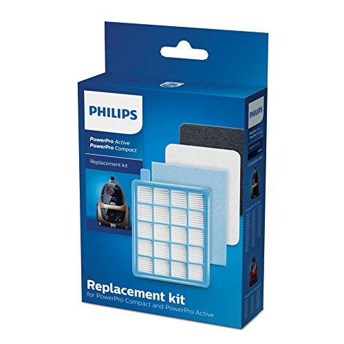 Philips komplettes Filterset für beutellose Staubsauger PowerPro Active und Compact FC8058/01 (nicht geeignet für FC933X) (Power-compact)
