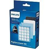 Philips FC8058/01 Kit 1 filtre de sortie HEPA 10, 1 filtre moteur, 1 filtre en mousse Pour aspiateurs Philips PowerPro Active FC863X