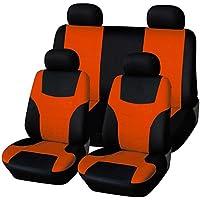 WINOMO Juego de 8 fundas universales para asientos de coche (color naranja)