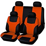 #3: VORCOOL 8Pcs Universal Classic Car Seat Cover Seat Protector Car Styling Seat Covers Set (Orange)