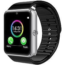 CHEREEKI Bluetooth Smart Watch con cámara soporta tarjeta SIM TF tarjeta de pulsera teléfono reloj pantalla táctil Smartwatch podómetro pulsera para Android Smartphones