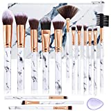 Make Up Pinsel Sets ALLFY 15 Stücke Professionelle Pinselsets makeup Premium Synthetische...