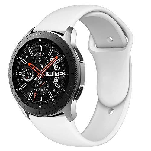 Latband Sport Armband kompatibel mit Samsung Galaxy Uhr 46mm/ Gear S3 Classic Frontier, 22mm weiches Silikon Ersatzarmband ist kompatibel mit Samsung Galaxy Uhr,SM-R800NZSAXAR Smart Fitnessuhr