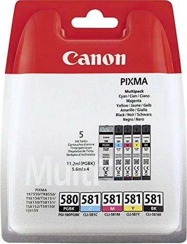 CANON INK PGI-580/CLI-581 BK/CMYK (Canon Drucker Patronen Pixma)