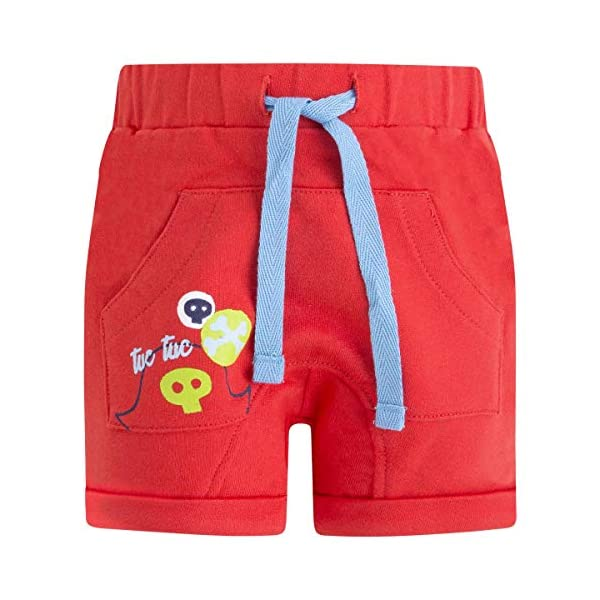 Tuc Tuc Bermuda Felpa Roja Niño Pirates Pantalones para Bebés 1