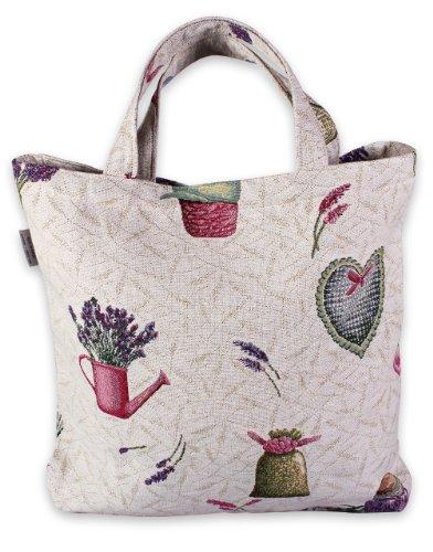 handy-bolsa-de-la-compra-tienda-de-campaa-en-bonito-jardn-de-lavanda-bolso-bolsa-de-la-compra-bolsa-