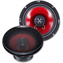 Mac Audio APM Fire 16.2 - Altavoces de coche (sistema coaxial de 2 vías, rango de frecuencia de 45 - 20000 Hz) rojo