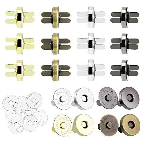 CODIRATO 20PCS Botónes Magneticos 14/18 mm Cierre Magnético de Aleación de Zinc...