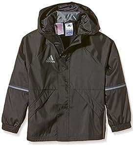 adidas Kinder Jacke/Anoraks Con16 Rain Jkty, schwarz/vista grau s15, 116, AN9861