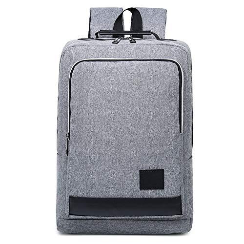 Männlich-weibliche Schultasche, die Rucksack Oxford-Notizbuchtasche, grau auflädt