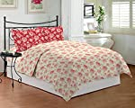 Give your bedroom a positive and subtle makeover with this Bombay Dyeing Coral Vine Printed Double Bedsheet. Fashioned from cotton, this bed sheet flaunts 140 threads per square inch that makes it soft on the skin, absorbent and comfortable for a goo...