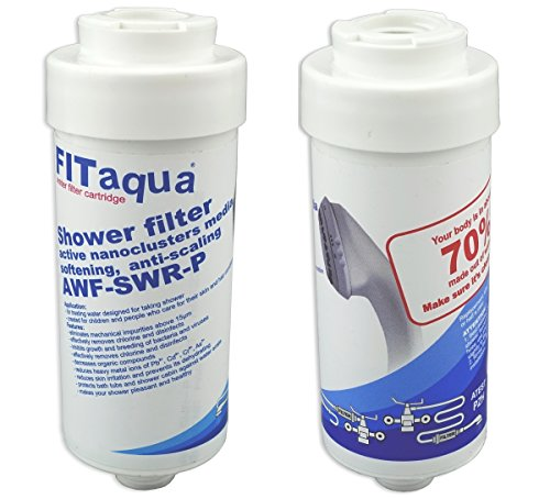 Fit aqua AC-SWR AM-SET-I 2 x Markenfilter FITaqua Kalkfilter für Dusche & Badewanne, 2 Stück