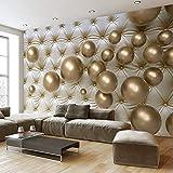 Wallpaper Europäische Stereo 3D Gold Ball weiche Tasche Kunstleder Fototapete