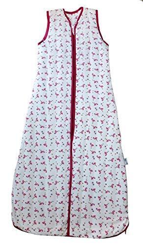 Schlummersack – Saco de Dormir para niña (1,0 TOG, 110 cm, 12-36 Meses), diseño de flamencos