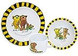 Unbekannt 3 tlg. Geschirrset:  Janosch / Tigerente - Tiger & Bär - Melamin Set - Henkelbecher + Teller + Müslischale - Kindergeschirr - Frühstücksset / für Jungen Mädchen - Frosch / Kastenfrosch