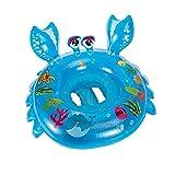 HBWJSH Anillo de natación del bebé Engrosamiento Anillo Flotante bebé Asiento Inflable Asiento de natación para niños (Color : Azul)