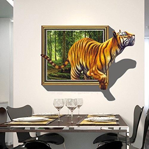 HL-PYL 3D Dreidimensionale Dekorationsmalerei Wohnzimmer Sofa Tv Hintergrund Wand Aufkleber Aufkleber Kreative Kinder Zimmer Papiertiger