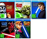 Blu-ray Set * Star Wars - The Clone Wars - Season/Staffel 1+2+3+4+5 (1-5)