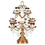 Amalfi Décor Madeleine Collection Antique Gold 12-Piece Cupcake Stand, Metal Tiered Cake Dessert Display Tower Holder with Crystals