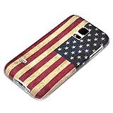 deinPhone Coque de protection en silicone rigide pour Samsung Galaxy S5 Mini Drapeau américain rétro