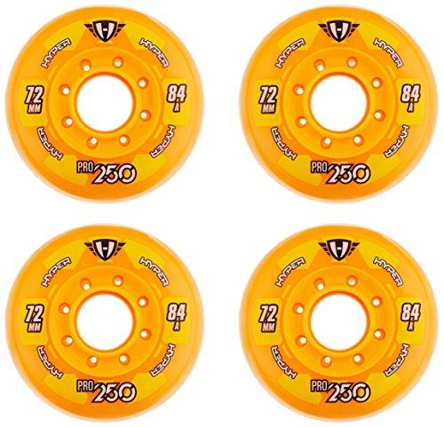 Hyper Pro 250 - Ruedas para patines en línea (72 mm), color naranja, talla 72 (pack de 4 unidades)