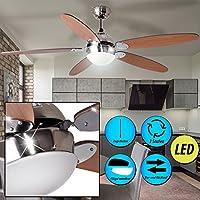 Uberlegen Etc Shop Deckenventilator Mit Beleuchtung Ventilator Zugschalter Im Set  Inklusive 4,5 Watt LED