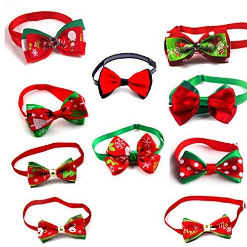 Hunde Kostüm Spike - Gaddrt Fliege für Hunde, Katzen, Weihnachten, verstellbar, 10 Stück, EBUY001, B, M: 32x32x33cm