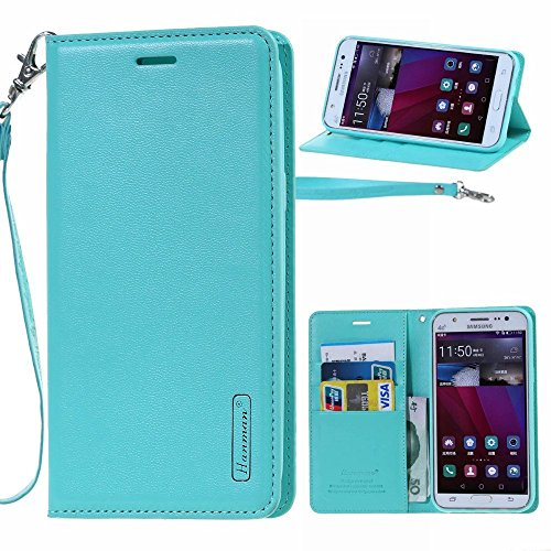 for Sony Xperia XZ / XZs New Hanman Genuine Leather Wallet Flip Case Cover For Sony Xperia XZ / XZs (green)  available at amazon for Rs.899