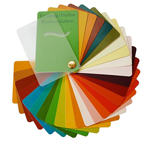 Farbpass Business Frühling/Herbst Mischtyp (warm Spring/Autumn) als Fächer mit 34 typgechten Farben zur Farbanalyse, Farbberatung (Herbst Farben)