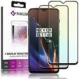 NALIA (2 Unidades) Cristal Templado Compatible con OnePlus 6T, 9H Vidrio Blindado Película Protectora Film, Telefono LCD Screen-Protector de Pantalla Claro Phone Tempered-Glass - Transparente (Negro)