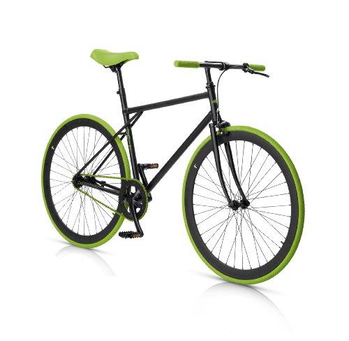 MBM Unit Bicicleta Urbana Fixed, Negro / Verde, 53 cm