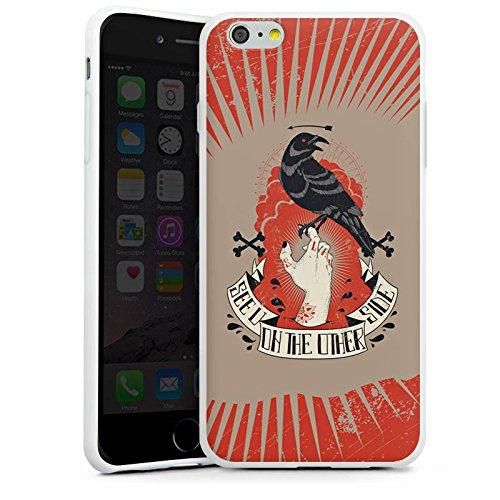 Apple iPhone X Silikon Hülle Case Schutzhülle Rabe Gothic Hand Silikon Case weiß