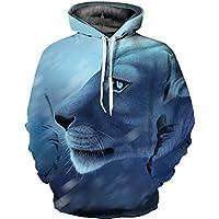 Avety 3D Sudaderas con Capucha Sudadera con Capucha Hoodie Sweatshirt Impresión Digital 3D Hip Hop Suéter