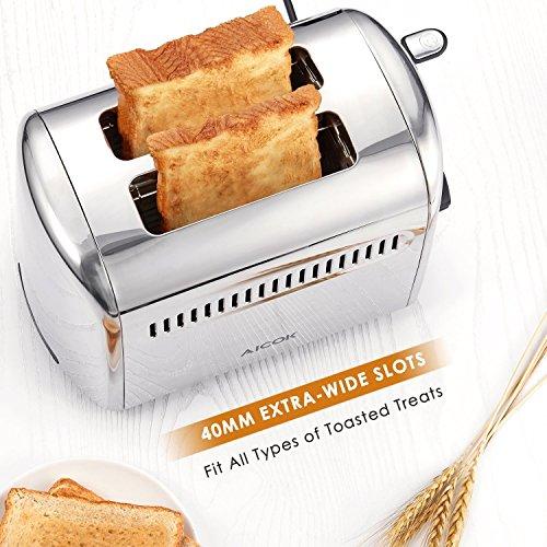 Aicok 2 Scheiben Edelstahl Toaster
