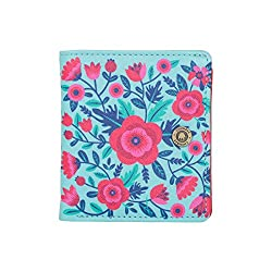 Blissful Blooms Square Wallet - Teal