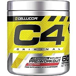 Cellucor - C4 Original - Suplemento explosivo de preentrenamiento - Zumo de frutas - 60 raciones