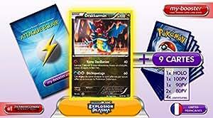 DRAKKARMIN holo reverse 70/101 100PV Explosion Plasma - Booster optimisé Attaque Eclair de 10 cartes pokemon Francaises