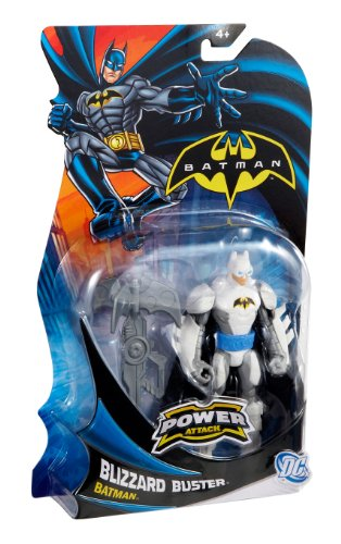 Batman - Figuras de acción, Pack Heroe Villano,, Armadura Blanco (Mattel X2297)