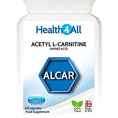 Health4All Acetyl L-Carnitine ALCAR 500mg | 100% VEGAN | Free UK Delivery