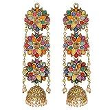 #4: Fashion Jewellery Bohemian Stylish Multi-Color Fancy Party Wear Earrings for Girls and Women