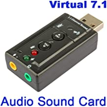Amazingdeal365 USB 2.0 a 3.5mm Micrphone de audio Adaptador de puerto de altavoz Pista de sonido de 7.1 canales