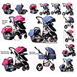 3 in 1 Combi Stroller Buggy Baby Child Pushchair Free Car Seat Reverse or Forward Facing Rain Cover Mosquito Net Bottle Holder Fold able Foot Muff with Free delivery Free Parts Replacement