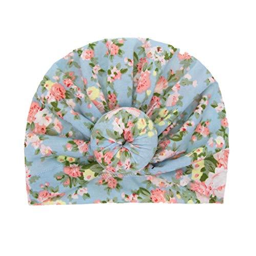 CCIKun Baby Hut, Baby-Turban-Kleinkind scherzt Jungen-Mädchen-Indien-Hut reizenden Blumendruck weichen Hut| Kinder Kappe Fischerhut Schirmmütze Strohhut 0-2 Jahre(A,Einheitsgröße)