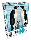 WWF Puzzle 100Teile–Tiere: Familie Pinguin, 104