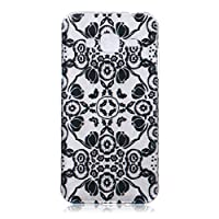 Samsung Galaxy J3 2015 Model/J3 2016 Model/J310 Case [With Tempered Glass Screen Protector],Grandoin(TM) Fashion Flexible Nice Drawing Printed Pattern Bumper Shell Case ,Excellent Quality Soft Silicone Rubber Extra Ultra Slim Thin TPU Colorful Designs Protective Back Cover Case Perfect Fit for Samsu