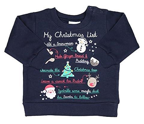 Kidz pour enfants de Noël fantaisie Pull Sweat-shirt - bleu - 18 mois